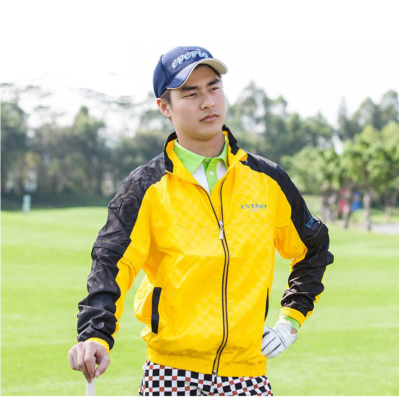 Jacket New Men golf windbreaker winter golf jacket armr apparel autumn coat men coral velvet vest slim uamr outdoor waistcoat ws715 men s autumn winter wear multi pocket polyester slim jacket deep blue yellow l