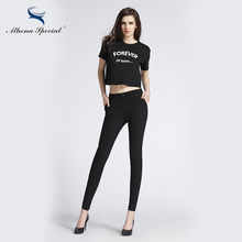 Athena Special High Elastic 2017 Women Pant Comfortable Female Capris Trousers Soft Skinny Harem Pencil Pants Tight Style