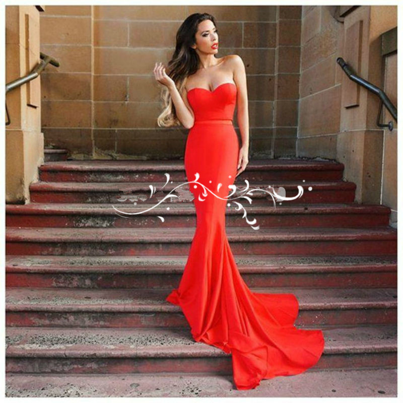 Trendy Red Mermaid Long 2018 Off The Shoulder Sexy Elegant Prom Formal Pageant Gowns Custom Vestido Longo bridesmaid dresses