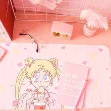 Anime Sailor Moon Harajuku Kawaii Extra Large Gaming Mouse Pad Cartoon Computer Mousepad Anti-slip Mouse Mat Cosplay Props(China)