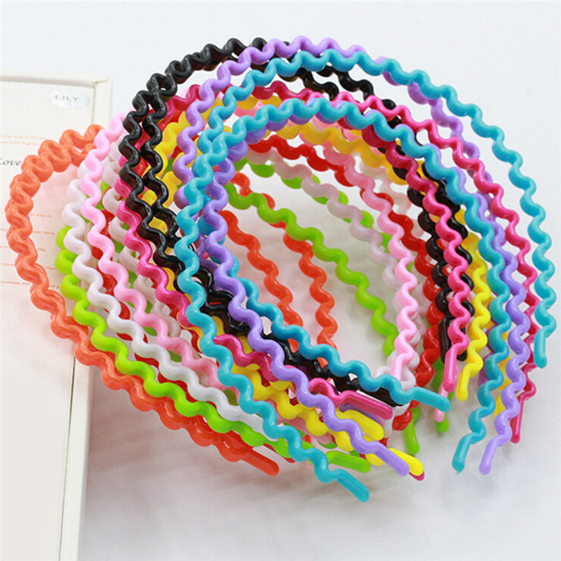 Women Girls Kids Korean Wavy HairBand Headwear Hair Accessory