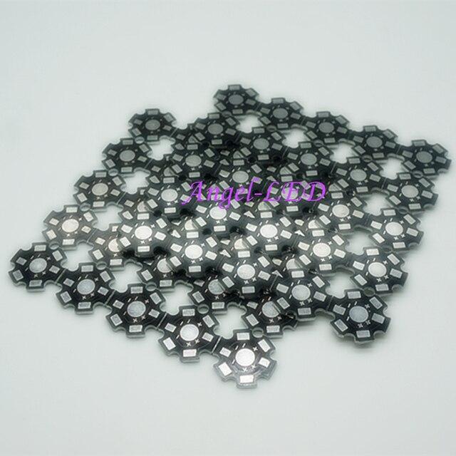 50 шт. Высокая мощность 1 Вт/Вт 3 Вт/Вт 5 Вт светодио дный светодиодный радиатор алюминий база пластина 20 мм светодио дный LED доска комплект DIY Высокое качество star радиатора