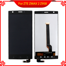 For ZTE ZMAX 2 Z958 LCD Display Touch Screen Panel Replacement Screen For ZTE ZMAX 2 Display Free shipping with Tools new lcd display matrix for 7 digma hit 4g ht7074ml tablet 30pins lcd screen panel lens frame replacement free shipping