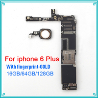 16gb 64gb 128gb for iphone 6 plus motherboard with Gold Touch ID Full unlocked for iphone 6 plus 5.5inch logic boards