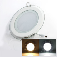2019 New 3 COLOR CHANGE glass led panel light LED Ceiling Recessed Light AC85 265V LED Downlight SMD 6W 9W 12W 18W Home lighting