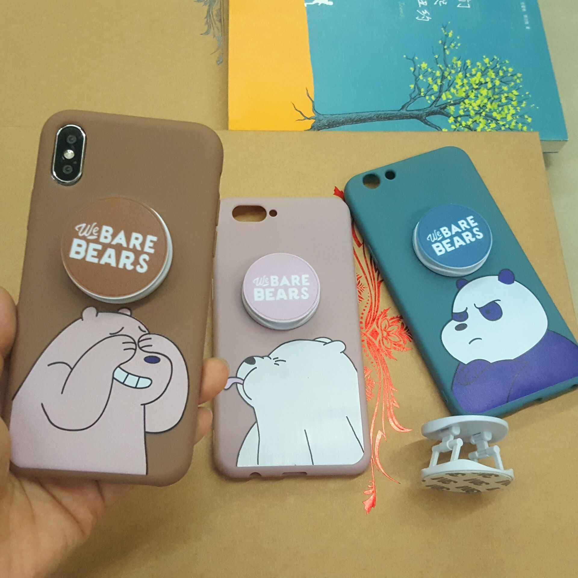 Bare Bears Lquid Soft Silicone Case for Huawei Honor 10 8X 9 Play Mate 9 10 20 Pro Fundas Cartoon Cover Phone Cases WIth Bracket