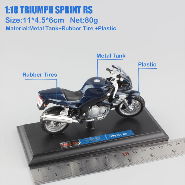 children's Maisto 1/18 TRIUMPH SPRINT RS Sport touring bike small scales model motorcycle Diecasts Toy Vehicles moto collection