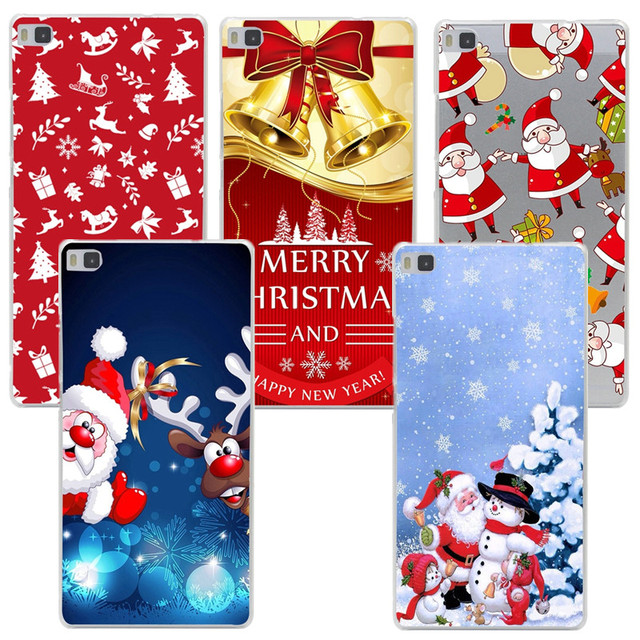 Soft Phone Case Cover For Huawei P8 Lite 2017 Cover Capa Christmas Santa Claus Gift Printed For p9 p10 P20 lite iphone se 5s 6s