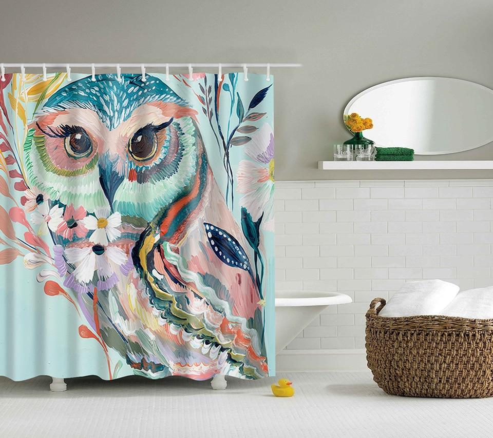 In lager eule Druck Dusche Vorhänge Bad Produkte Badezimmer Dekor ...