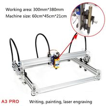 A3 Pro Mini Diy Laser Engraving Mesin 500 MW/2500 MW/5500 Mw 30X38 Cm Bekerja area Laser Printer CNC Engraving Machine untuk Tato(China)