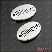 оптовая продажа любовь billieve удача надежда кружки вера Oval письмо подвески выводы могут еще больше взял