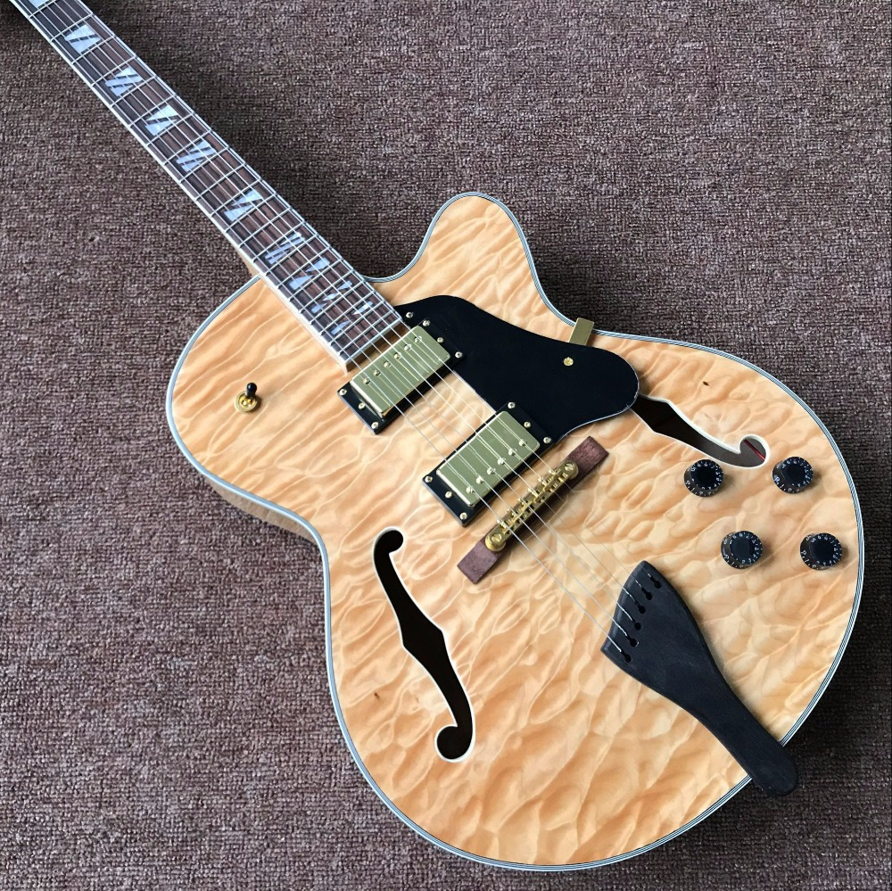 NEW Arrival Custom SHOP L5 JAZZ Electric Guitar,Quilted Maple Top & real photos