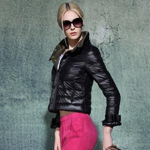 Image 5 - Ynzzu 뜨거운 판매 새로운 여성 울트라 라이트 다운 재킷 패션 짧은 슬림 코트 여성 오버코트 도매 드롭 배송 ao021