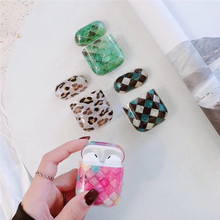 Luxury Fritillaria Marble hard case for Apple Airpods protective cover Bluetooth Wireless Earphone Case Charging bags