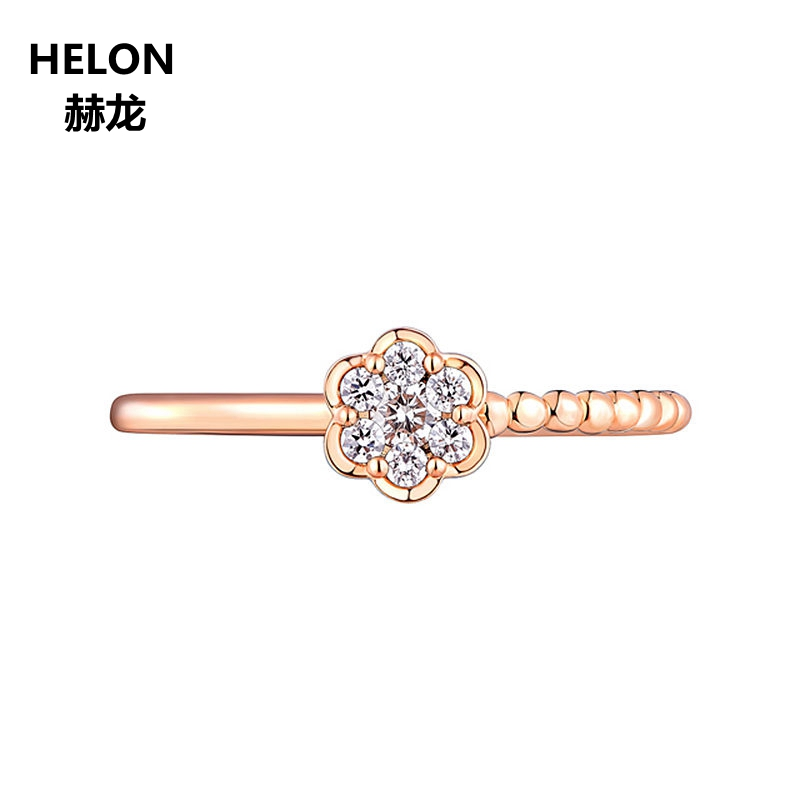 0.11ct SI/H Full Cut Natural Diamonds Engagement Ring for Women Solid 14k Rose Gold Cluster Diamonds Wedding Ring Fine Jewelry0.11ct SI/H Full Cut Natural Diamonds Engagement Ring for Women Solid 14k Rose Gold Cluster Diamonds Wedding Ring Fine Jewelry