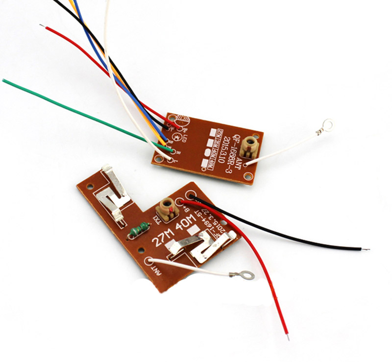 1 Set 4 Channels 10 Meter Radio <font><b>Remote</b></font> <font><b>Control</b></font> Board <font><b>27Mhz</b></font> <font><b>40Mhz</b></font> 4CH Transmitter Receiver Plate Kit for DIY RC Model Car Parts image