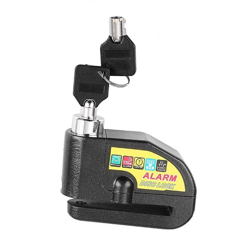 Алюминиевый сплав защита от кражи водонепроницаемый Противоугонный колесный дисковый тормозной замок с охранной сигнализацией для мотоци...