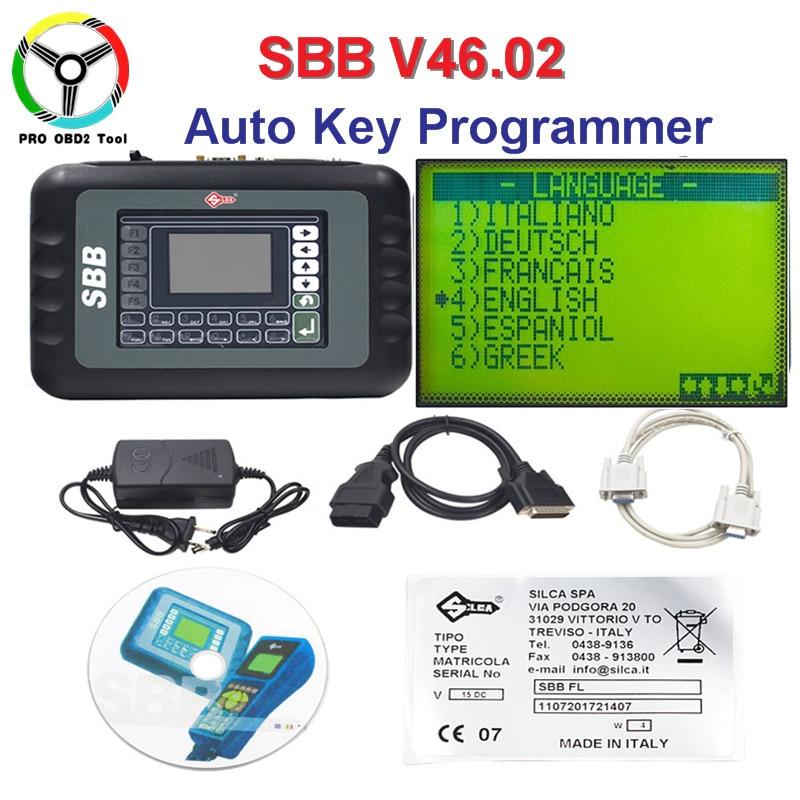 No Tokens Limited SBB V46.02 Auto Key Programmmer Slica SBB Key Transponder as CK V46.02 Better Than SBB V33.02 Firmware Update