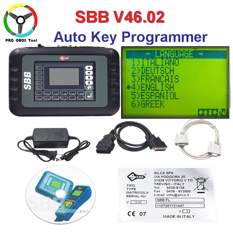 Professional Universal Silca SBB Auto Key Programmer Key Maker SBB V46.02 Support 9 Languages No Tokens Limited As CK100 V46.02 2016 top rated silca sbb key programmer v33 02 professional auto key programmer autotool car diagnostic tool