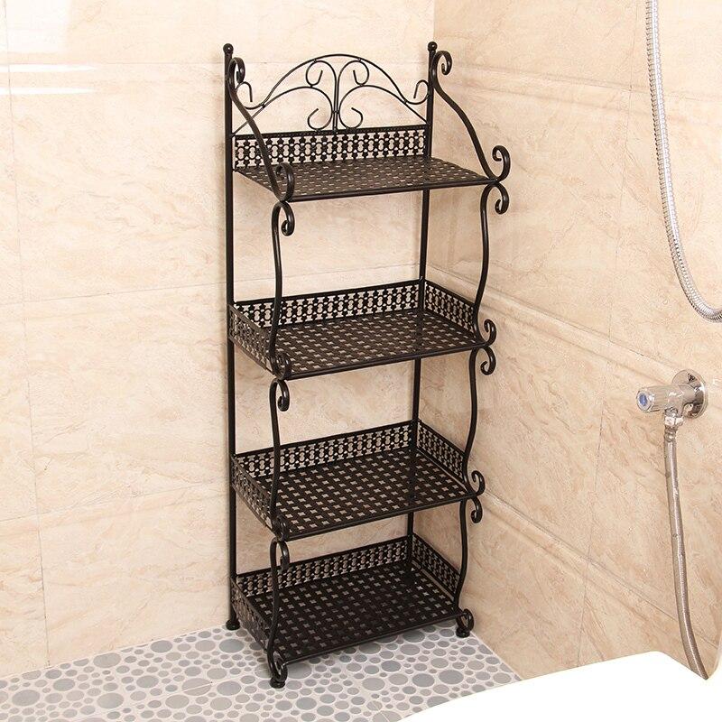 Estantes Para Bano De Hierro.Iron Metal Storage Rack Shelf Floor Multi Kitchen Living