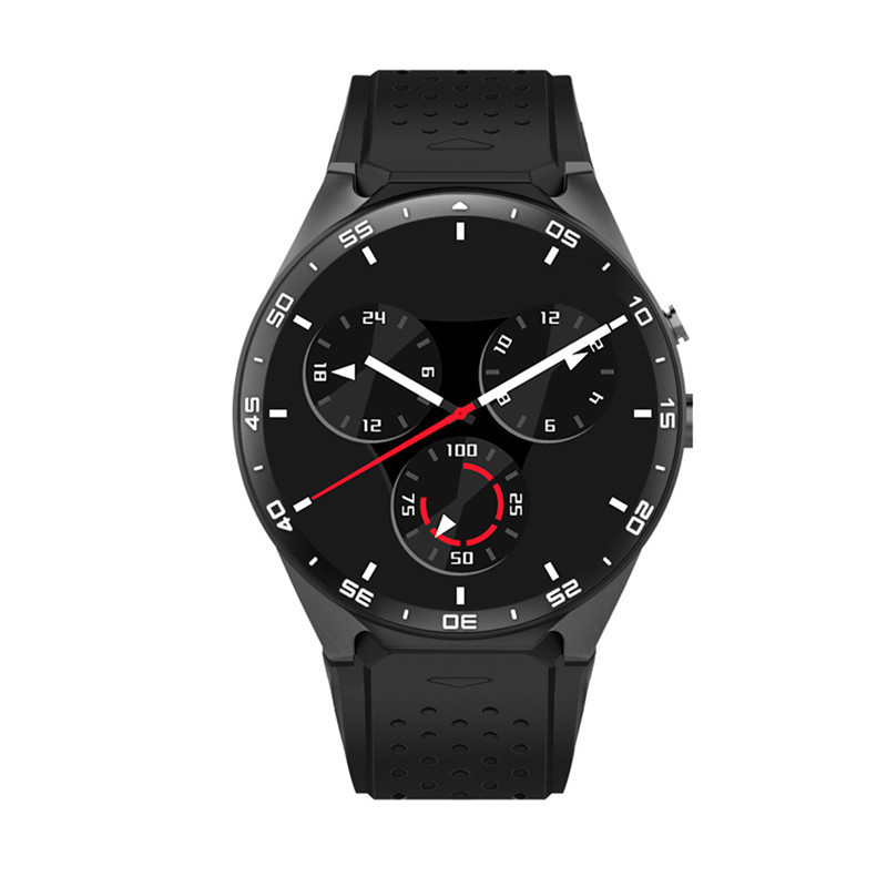 """KW88 MTK6580 Android 5.1 OS GPS Smart Watch 1.39"""" Display WiFi GPS 3G Bluetooth Sim Smartwatch phone For Android For Samsung"""