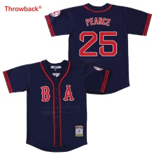 Throwback Jersey Men's Boston Jersey Pearce Baseball Jerseys Colour Red White Grey Green Blue Free Shipping Shirt Stiched цена
