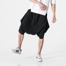 Größe M-5XL Sommer Männer Beiläufige Lose Harem Shorts Nepal Stil Baumwolle Leinen Breite Bein Rock Kurzen Hosen