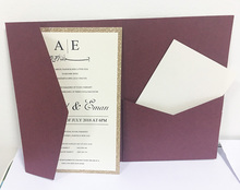 buy wedding invitations pocketfolds and get free shipping on