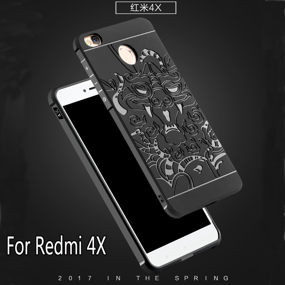Luxury Phone Case For Xiaomi Redmi 4X High Quality Silicone Hard Protective Back Cover Cases For