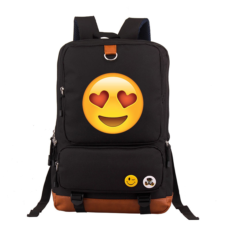 где купить Emoji Backpack Fashion Youth Schoolbags for Teenager Girls Boys School Bags Travel Daypack Teenage mochila по лучшей цене