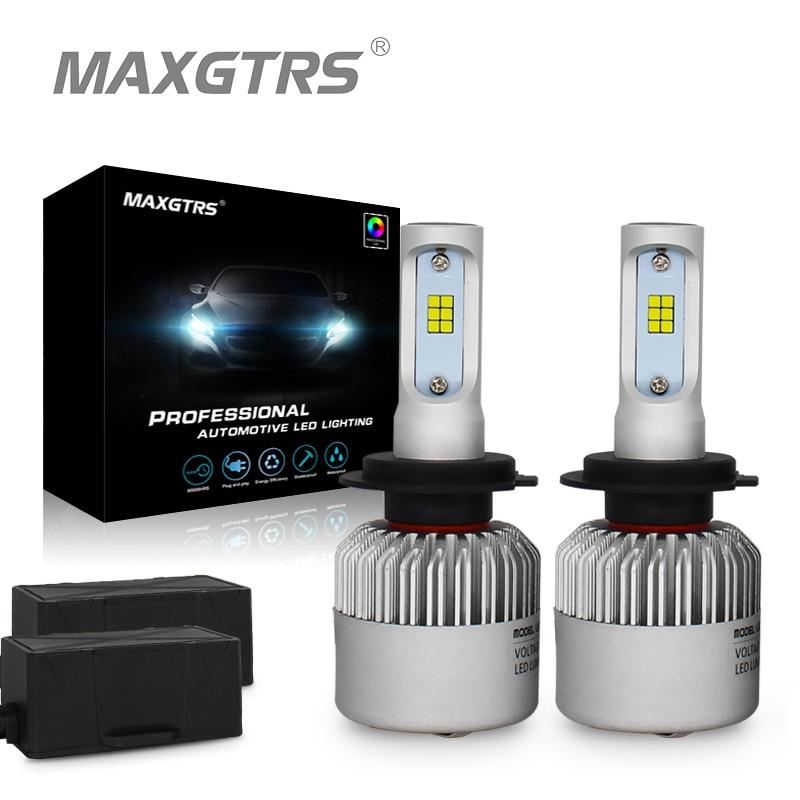 2x H1 H3 H4 H7 H8 H11 9005 9006 HB3 HB4 9012 H16 880 881 Auto Scheinwerfer Licht Canbus 8000Lm CSP COB Led-lampe Auto DRL Scheinwerfer