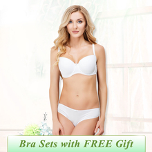 New Year Gift New Arrival  Women Sexy Bra Set 75A-90D Push Up Cotton Underwire Lingerie Plue Size Bra and Panties VPC00801033