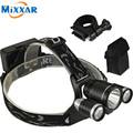 ZK40 3 LED Headlight Cree XM-L T6+2Q5 8000 Lumens Head Lamp High Power LED Headlamp Bike Frond Light For Camping Cycling Fishing