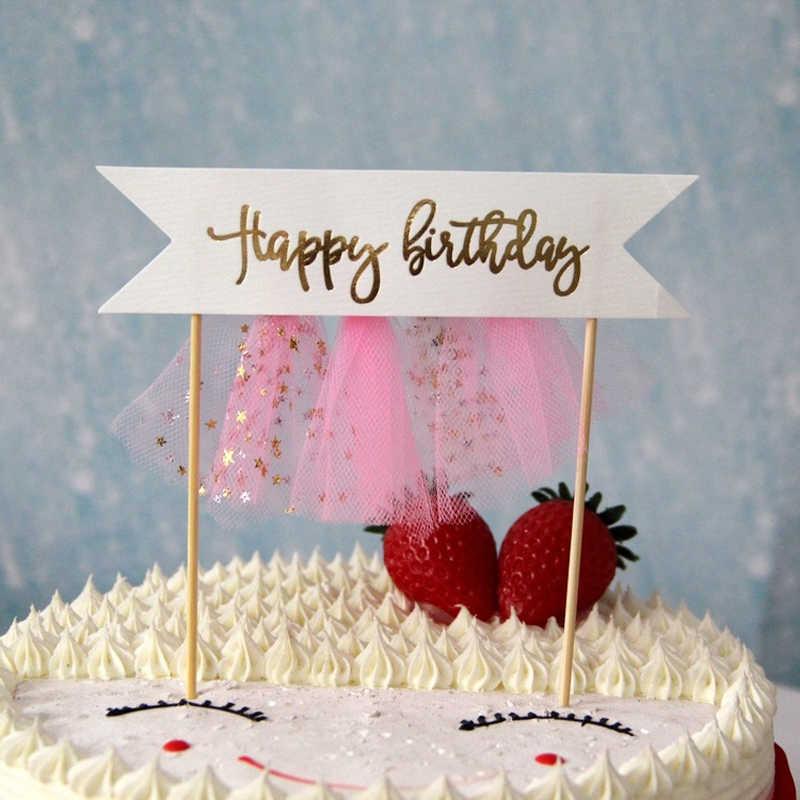 1 шт. экран для самостоятельного ремонта кисточки в форме единорога С Днем Рождения Торт Мороженое топперы выбор мальчик девочка дети день рождения десертный Декор