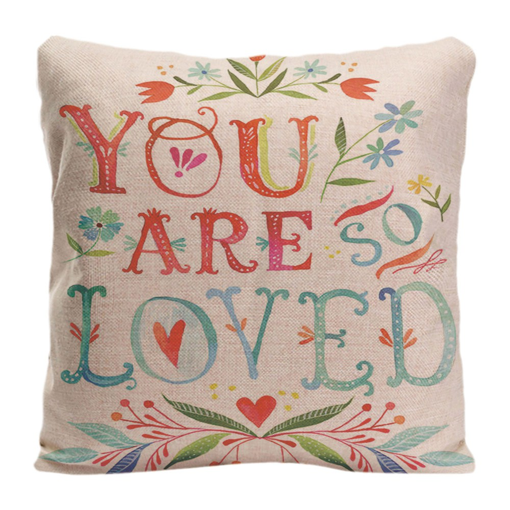 You Are So Loved Cushion Cover Valentine S Day Colorful Flower Love Decorative Pillow Case Home Sofa Wedding Pillowcase For Gift Cushion Cover Love Cushion Coverslove Decorative Pillows Aliexpress