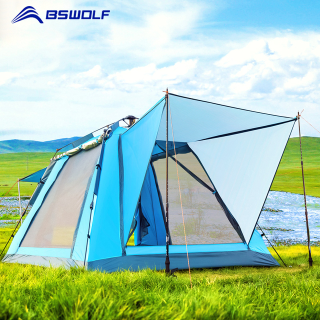 New Design Automatic Tents 3-4 Person Outdoor Hiking Camping Tent For Family Travel Waterproof Beach Tent Large Space