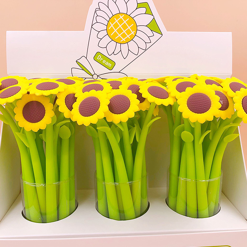 Sunflower Gel Pen Neutral Writing Pens For School Supplies Students Writing Gifts