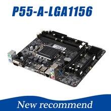 216*170 мм P57 PM55 P55 материнской Deaktop LGA1156 материнской плате компьютера Max 8 ГБ 2 * DDR3 1333/1066 мГц USB2.0 плата