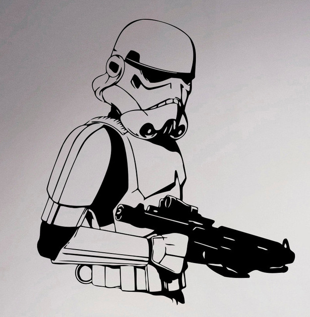 Storm trooper wall vinyl sticker star wars poster decal cool imperial army home interior living room