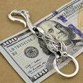 Punk Fashion Dragon Claw Hook Waist Pendant Solid 925 Sterling Silver Cool Men's Biker Dragon Head Keychain Keyring  8C019KC