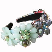 Baroque Exquisite Hand-beaded Stick Crytal Full Headband For Women Wedding /Qift Hair Accessories