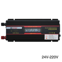 6000W Trucks Power Convertor Car Inverter Modified Sine Wave Voltage LCD Display Indicator Lamp Black Aluminum Alloy Transformer