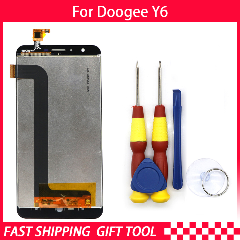 New original Touch Screen LCD Display LCD Screen For DOOGEE Y6 Replacement Parts + Disassemble Tool+3M AdhesiveMobile Phone LCD Screens   -