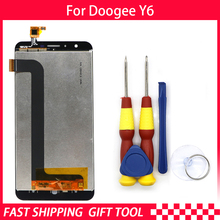 New original Touch Screen LCD Display LCD Screen For DOOGEE Y6 Replacement Parts + Disassemble Tool+3M Adhesive