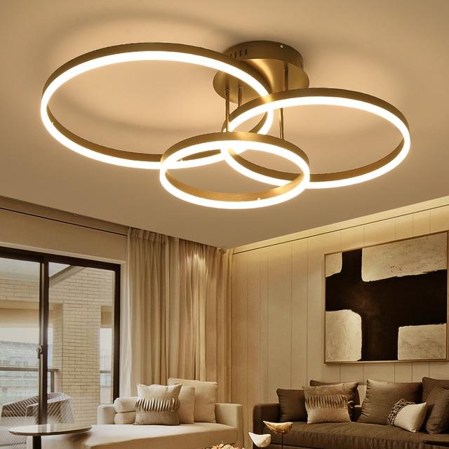 Neue Ankunft Kreis ringe designer Moderne led decke lichter lampe ...