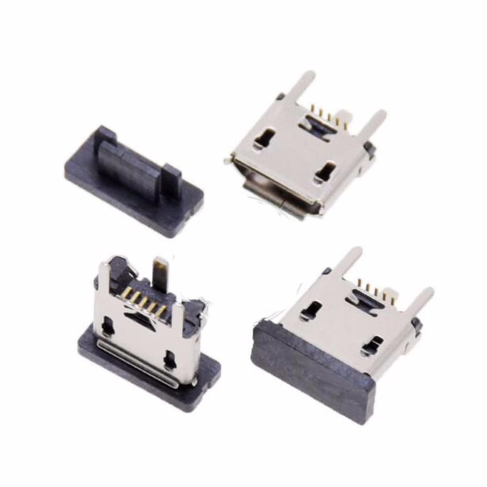 10pcs 30pcs 100pcs Vertical SMT Micro 5p USB Jack Connector 5P Micro Usb Port