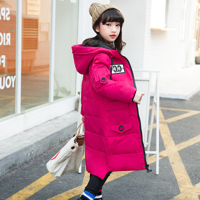 7535665e6fff Girls down jacket long section Korean kids clothes outerwear thickening  winter children clothing for teenage 6 8 10 12 14 years