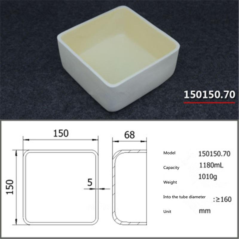 99.5% Square corundum crucible / 1180ml 150150.70 / Temperature 1600 degrees / Sintered ceramic crucible99.5% Square corundum crucible / 1180ml 150150.70 / Temperature 1600 degrees / Sintered ceramic crucible