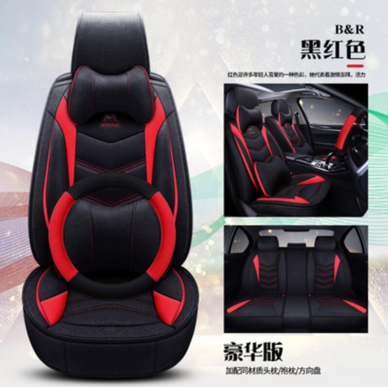 Housse de siège auto en cuir synthétique polyuréthane pour hyundai ix25 ix35 opel zafira b chevrolet spark vw golf 5 6 7 accessoires auto style voiture