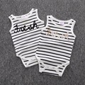3 Color Newborn Romper Children Triangle climb clothes baby Stripe vest Short sleeve jumpsuit wholesale